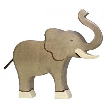 Animal en bois - Eléphant