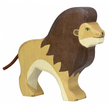 Animal en bois - Lion