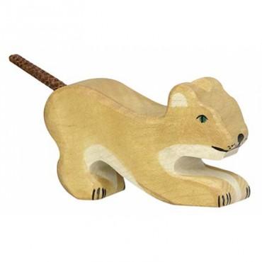 Animal en bois - Lionceau