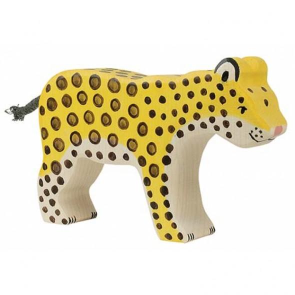 Animal en bois - Léopard