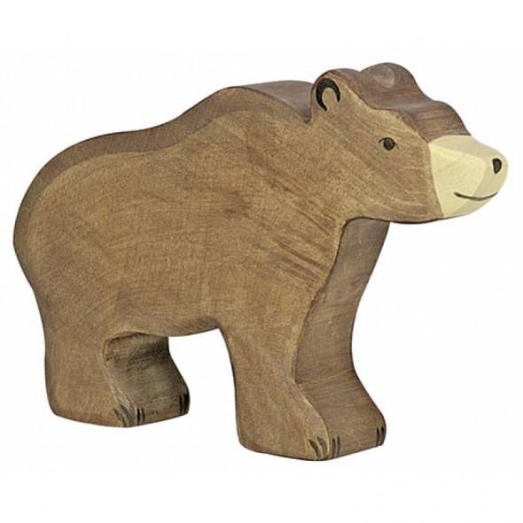 Animal en bois - Ours brun