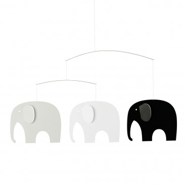 Mobile Elephants Party - Black & white