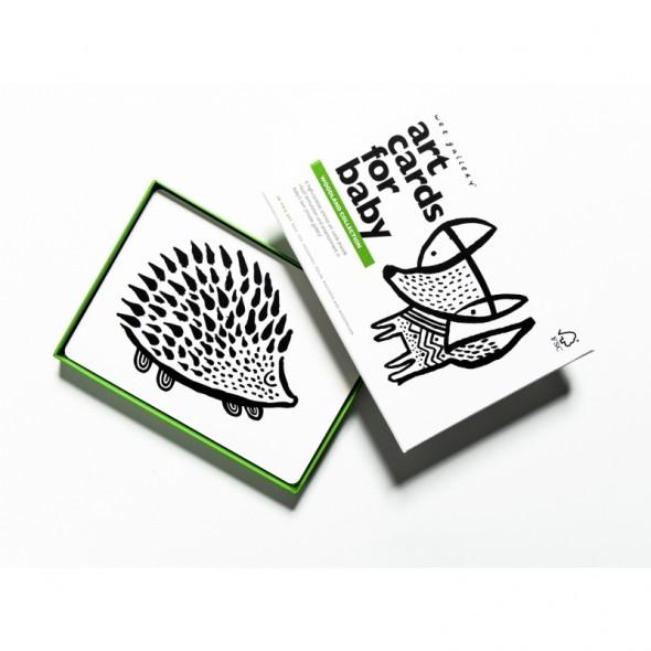 Cartes pour bébé - Thème Animaux des bois