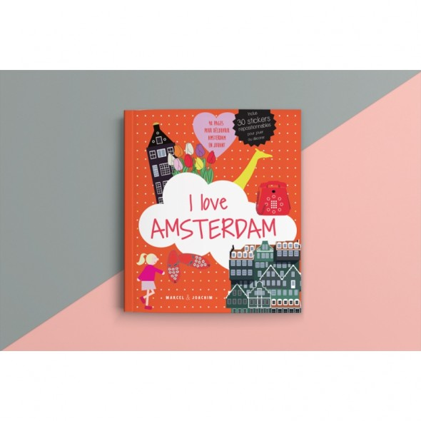 Livre Stickers - I love Amsterdam