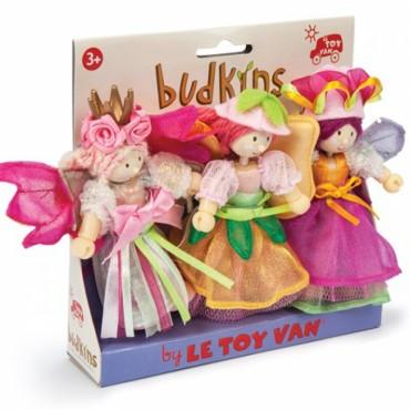 Pack de 3 figurines Budkins - Fées du jardin