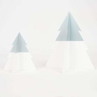 Sapin Bicolore - Argent / Blanc