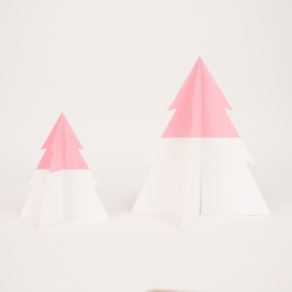 Sapin Bicolore - Rose / Blanc