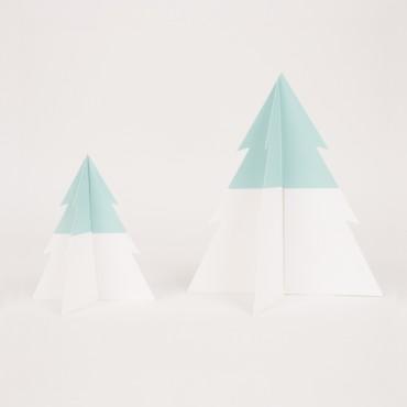 Sapin Bicolore - Aqua / Blanc
