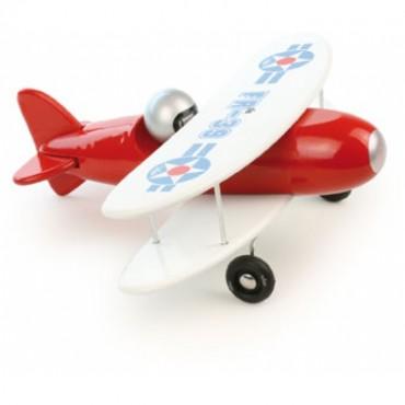 Avion bi-plan - Rouge