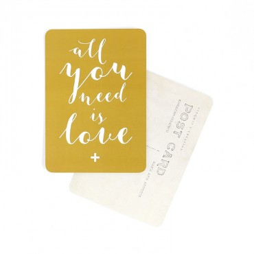 Carte All you need is love (Mila) - Vieil or