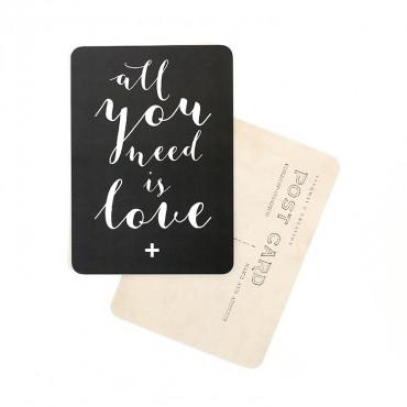 Carte All you need is love (Mila) - Ardoise