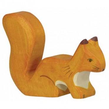 Animal en bois - Ecureuil