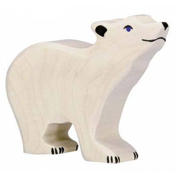 Animal en bois - Petit Ours polaire