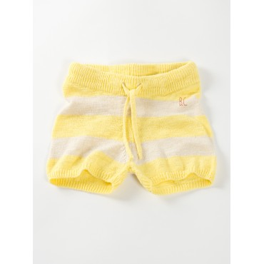 Short en tricot - Stripes yellow