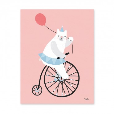 Affiche - Cycling Bear