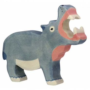 Animal en bois - Hippopotame