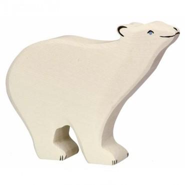 Animal en bois - Ours polaire