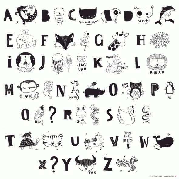 Set de lettres pour Light Box - ABC Black