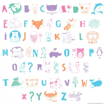 Set de lettres pour Light Box - ABC Pastel