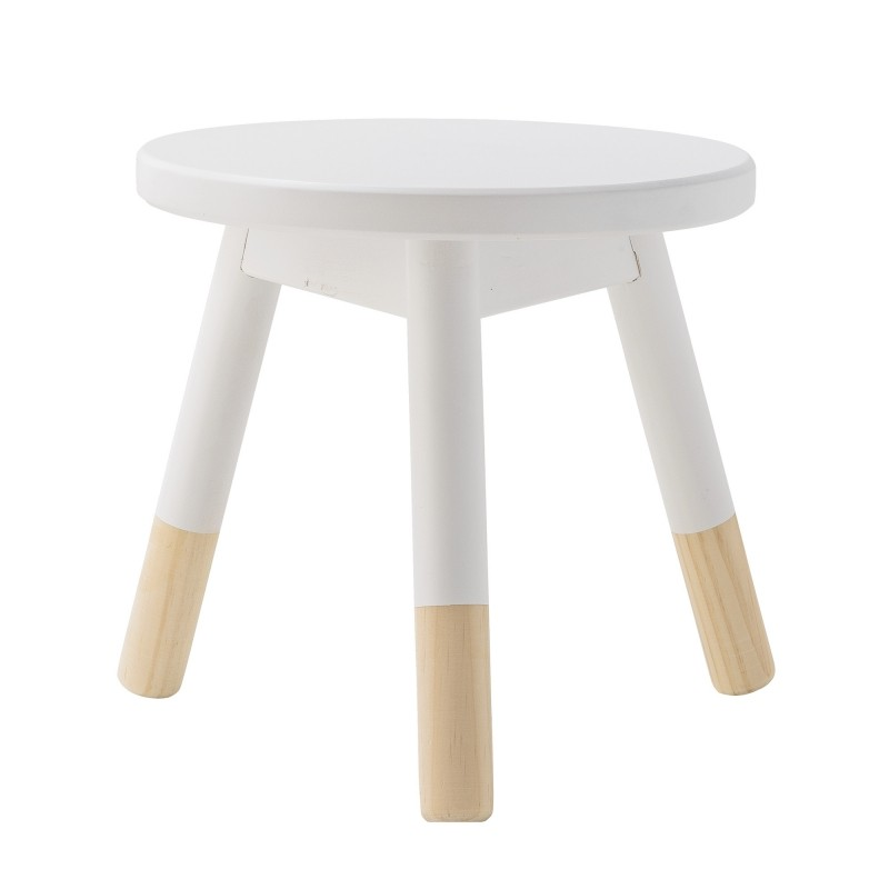 tabouret en bois naturel blanc bloomingville. Black Bedroom Furniture Sets. Home Design Ideas