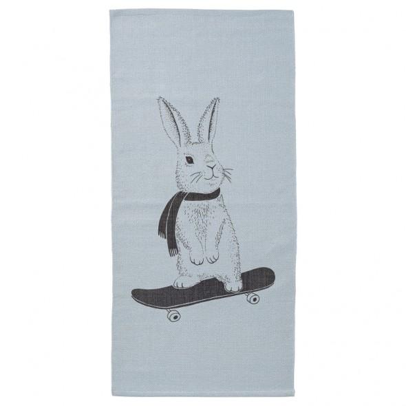 Tapis - Lapin sur un skate