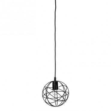 Suspension métal boule - Noir