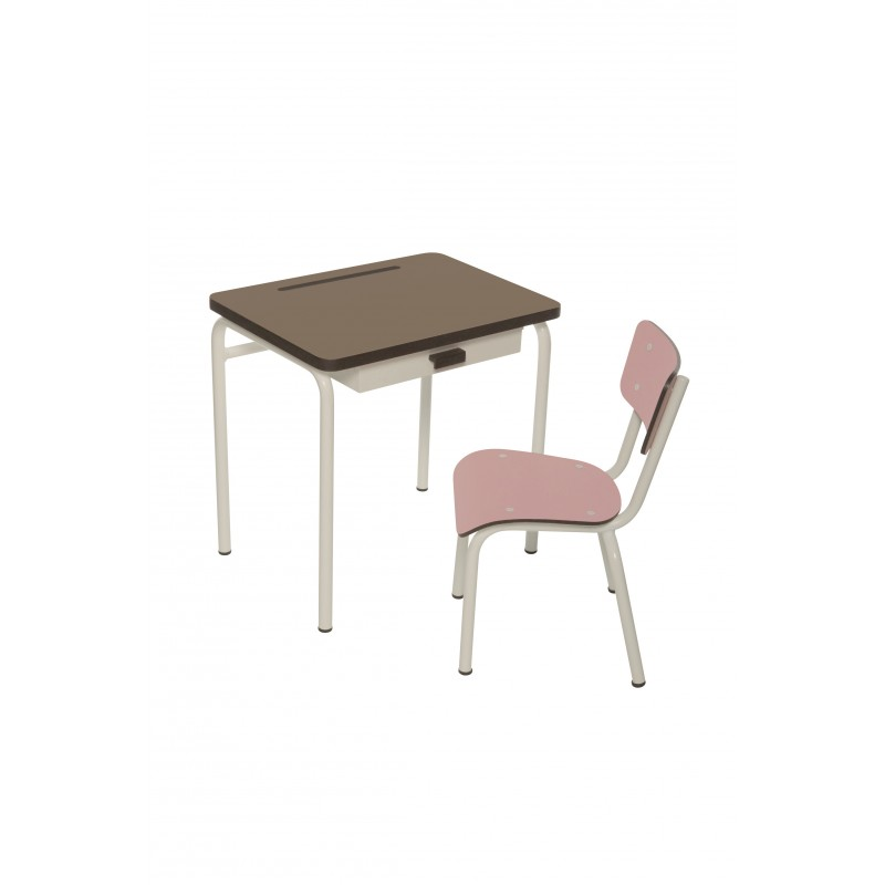 bureau enfant r gine taupe pieds blancs les gambettes perlin paon paon. Black Bedroom Furniture Sets. Home Design Ideas