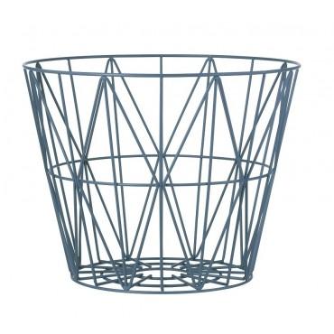 Panier de rangement Wire Basket - Pétrole (M)