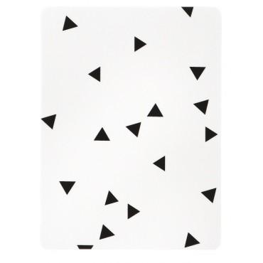 Planche à découper - Triangles noirs (S)