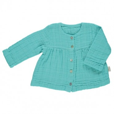 Blouse 5 boutons - Turquoise