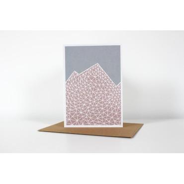 Carte avec enveloppe - Pink Mountains