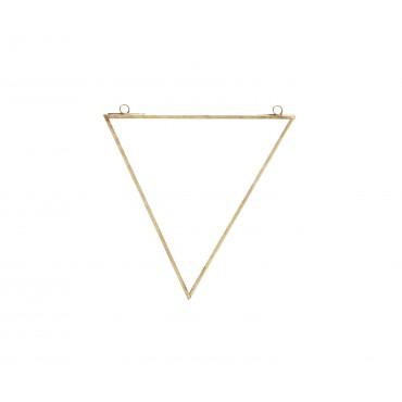 Miroir à suspendre Triangle - Laiton