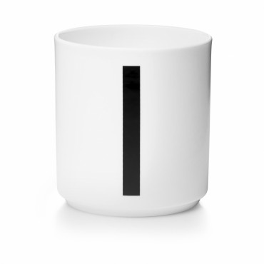 Tasse porcelaine - Lettre I