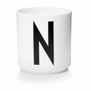 Tasse porcelaine - Lettre N