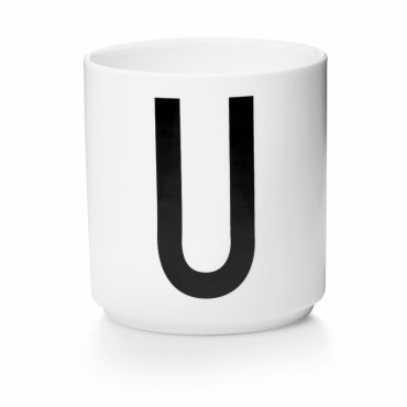 Tasse porcelaine - Lettre U