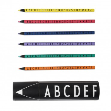 Set de 15 crayons de couleur - Alphabet Arne Jacobsen