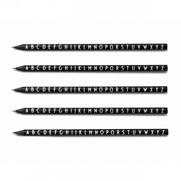 Set de 5 Crayons à papier Black - Alphabet Arne Jacobsen