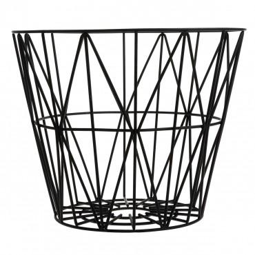 Panier de rangement Wire Basket - Noir (L)