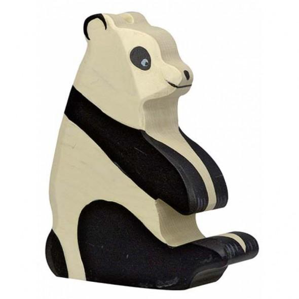 Animal en bois - Panda assis