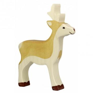 Animal en bois - Jeune Cerf