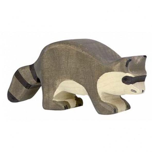 Animal en bois - Raton laveur