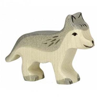 Animal en bois - Petit loup