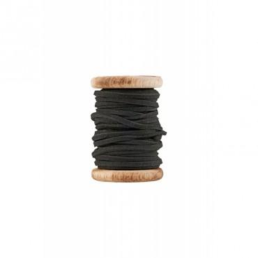 Bobine de fil de cuir - Noir (5 mètres)