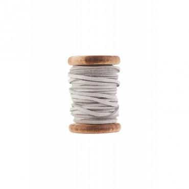 Bobine de fil de cuir - Gris (5 mètres)