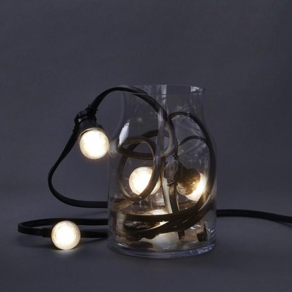 guirlande guinguette ext rieure 10 ampoules led 10. Black Bedroom Furniture Sets. Home Design Ideas