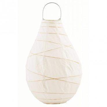 Lanterne en papier DROP - White