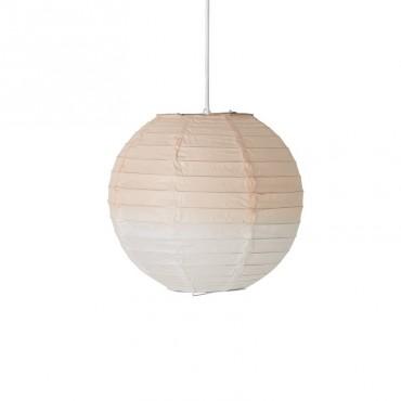 Lampe papier - Dip Dye White/Nude