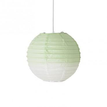 Lampe papier -  Dip Dye White/Mint