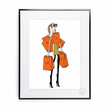 Affiche Soledad - Sac orange