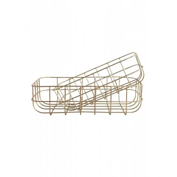 Corbeille en métal - Doré (Hauteur 8 cm)